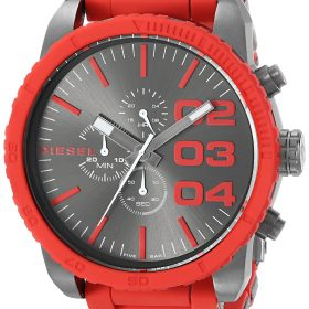 Diesel Men DZ4289 Double Down Series Stainless Steel Watch with Red Accents Price In Pakistan