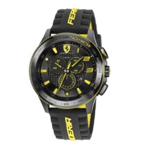 Scuderia XX Ferrari Carbon Fibre Chronograph Watch Yellow