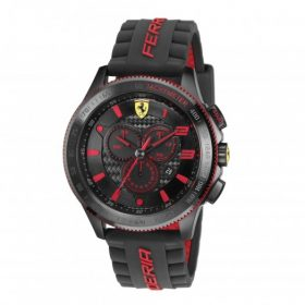 Scuderia XX Ferrari Carbon Fibre Chronograph Watch Red Price In Pakistan