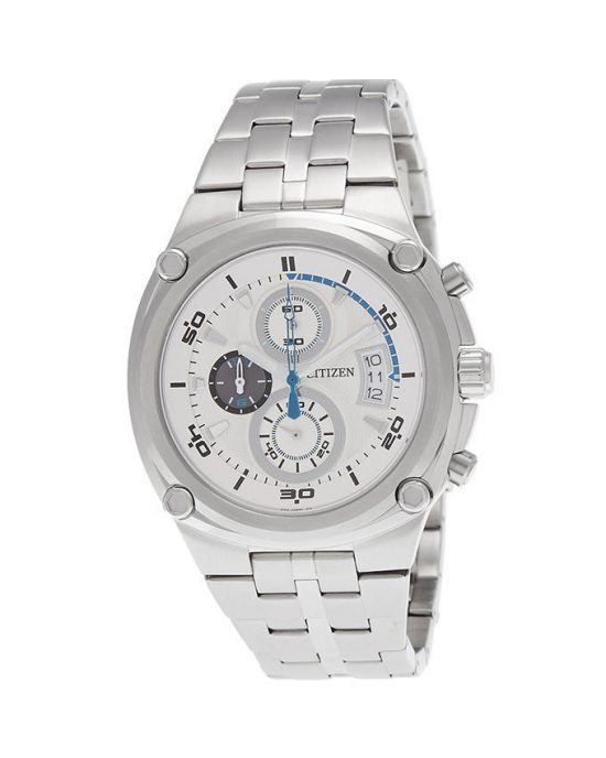 Citizen Men Silver Stainless Steel Chronograph Watch No. AN3450-50A Price In Pakistan
