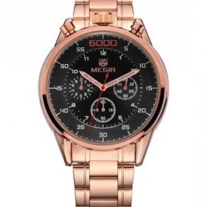 Megir Men's MS3005GRE-1N0 Black and Rose Gold Price In Pakistan