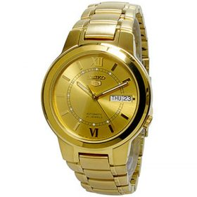 Seiko Golden Stainless Steel Watch For Men - SNKA24J1 Price In Pakistan