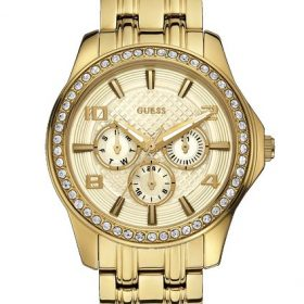 Guess W0147L2 mm Gold Tone Steel Bracelet & Case Mineral Women's Watch Price In Pakistan
