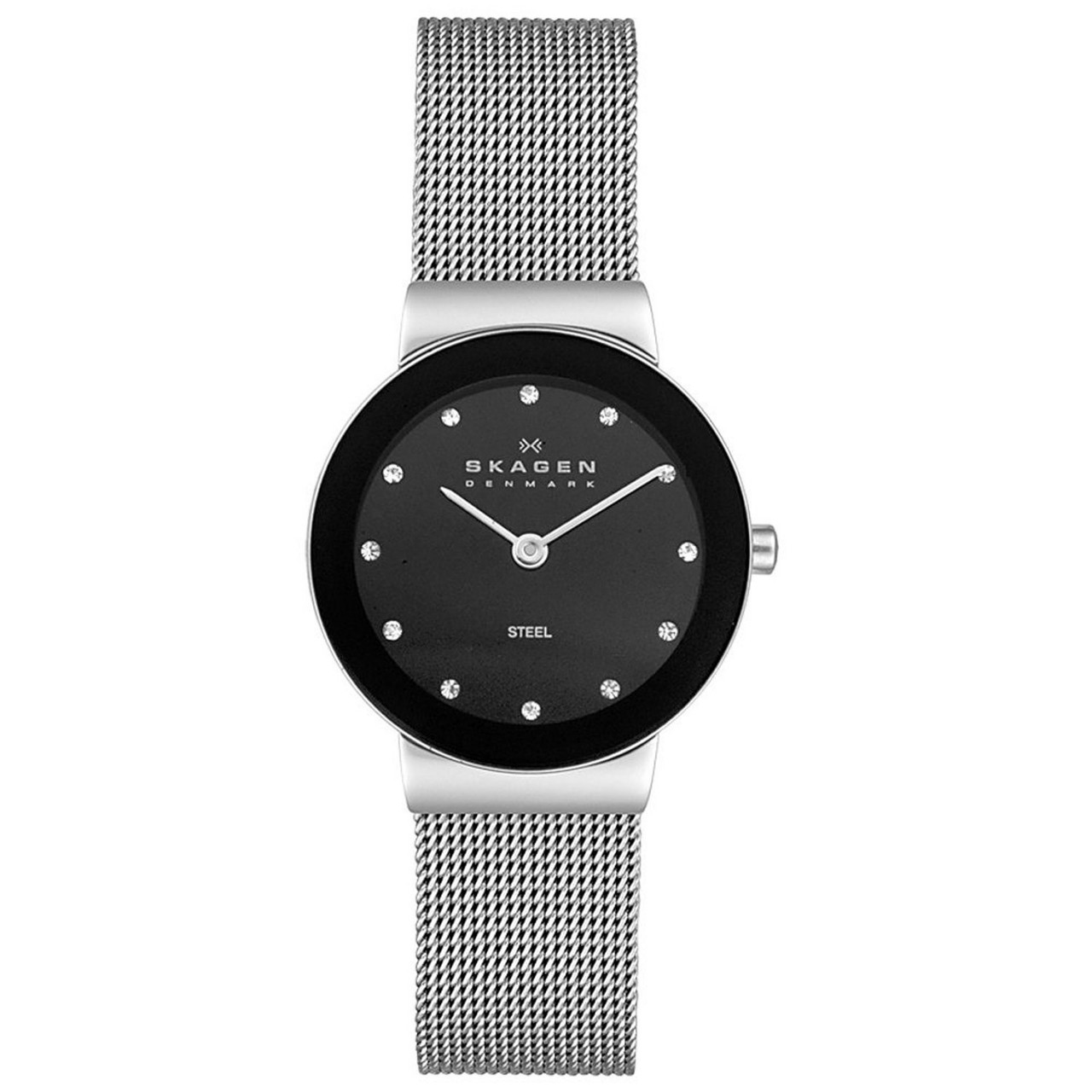Skagen Women's 358SSSBD Freja Stainless Steel Watch with Crystal Indices