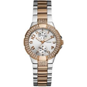 Guess W15072L2 Women's MINI PRISM Silver Gold Watch Price In Pakistan