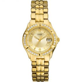 Guess W0148L2 38mm Steel Bracelet & Case Mineral Women's Watch Price In Pakistan