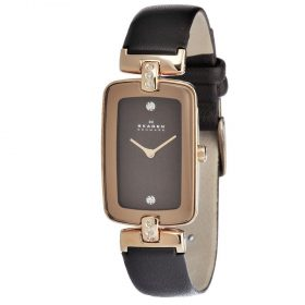 Skagen Women's H01SRLD Brown Leather Quartz Watch with Brown Dial Price In Pakistan