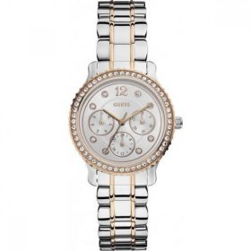 Guess W0305L3 34mm Silver Steel Bracelet & Case Mineral Women's Watch Price In Pakistan