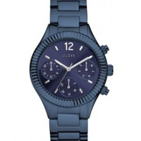 Guess Riviera Blue Dial IP Blue Stainless Steel Bracelet Women's Watch W0323L4 Price In Pakistan