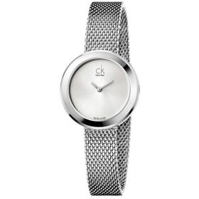 Calvin Klein K3N23126 - Firm Watch for Women - Silver Price In Pakistan