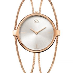 Calvin Klein K2Z2S616 - Agile Watch for Women - Silver & Rose Gold Price In Pakistan