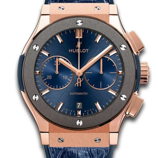 Hublot CLASSIC FUSION BLUE CHRONOGRAPH TITANIUM Price In Pakistan