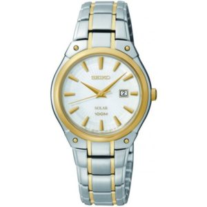 Seiko Women's SUT128 Dress Solar Analog Display Japanese Quartz Two Tone Watch Price In Pakistan