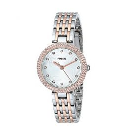 """Fossil Women's ES3640 """"Olive"""" Crystal Accented Two Tone Stainless Steel Watch Price In Pakistan"""