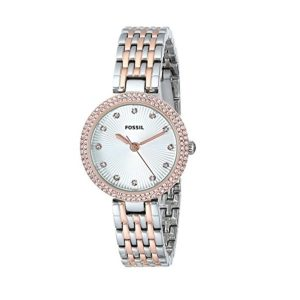 "Fossil Women's ES3640 ""Olive"" Crystal Accented Two Tone Stainless Steel Watch Price In Pakistan"