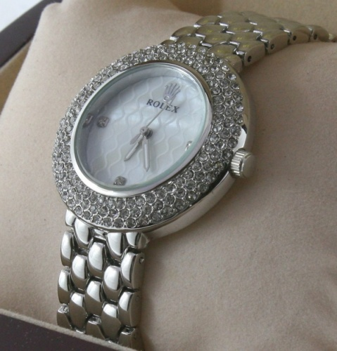 Rolex Ladies Silver Diomand Watches