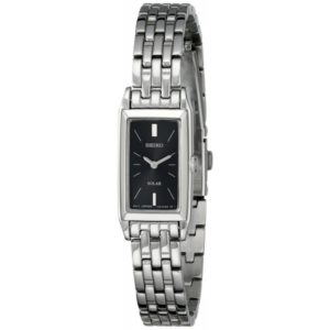 Seiko Women's SUP043 Stainless Steel and Black Dial Baguette Solar Watch Price In Pakistan