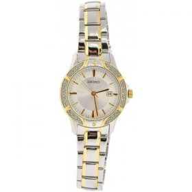 Seiko Three-Hand Date Stainless Steel - Two-Tone Women's watch #SUR876 Price In Pakistan