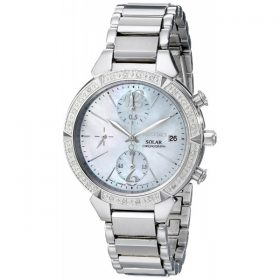 Seiko Women's SSC867 Solar Silver-Tone Stainless Steel Watch Price In Pakistan