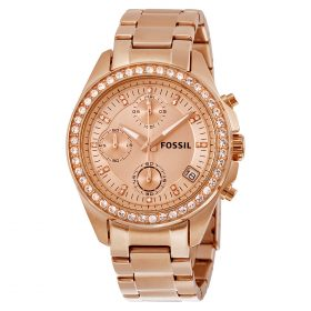 Fossil Women's ES3352 Decker Chronograph Rose Gold-Tone Stainless Steel Watch Price In Pakistan