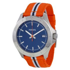 Fossil Men's Retro Traveler AM4478 Two-Tone Nylon Quartz Watch With Blue Dial Price In Pakistan