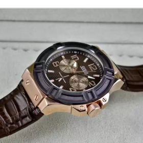 Guess Rigor Brown Leather Men Watch Price In Pakistan