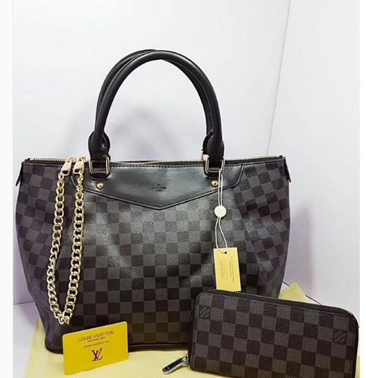 Black Louis Vuitton High Quality Bag set For Women Price in Pakistan