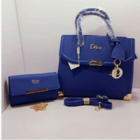 Blue Dior High Quality 2 in 1 Bags Women Price in Pakistan