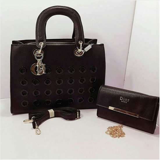 Black Dior High Quality 2 in 1 Bags For Women Price in Pakistan