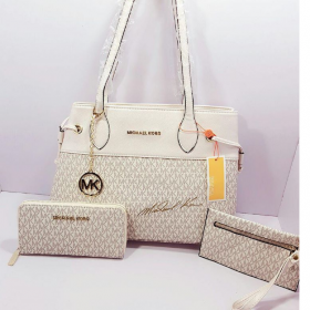 Offwhite MICHAEL KORS High Quality 3 IN 1 Women Bag Set Price in Pakistan