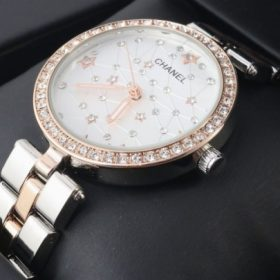 Chanel Silver Gold Star Dial Watch For Women Price In Pakistan