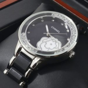 Chanel White Flower With Black Dial Watch For Women Price In Pakistan