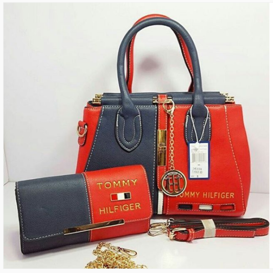 Black & Red Tommy Hilfiger Highest Quality Women Bag Price in Pakistan,