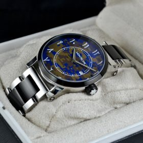 MONTBLANC (ARABIC 13) COMMANDO BLUE DIAL price in pakistan