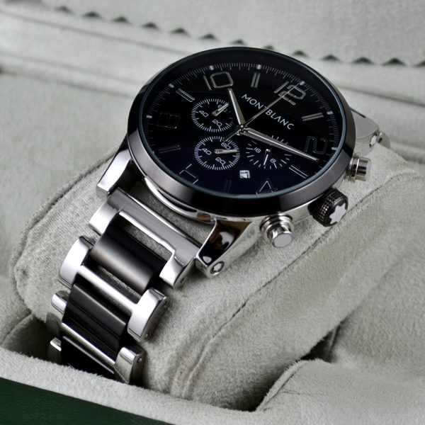 MONTBLANC TIMEWALKER CHRONOGRAPH SILVER BLACK Price In Pakistan