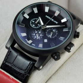 Montblanc 3D Chronograph Leather Strap For Men price in Pakistan