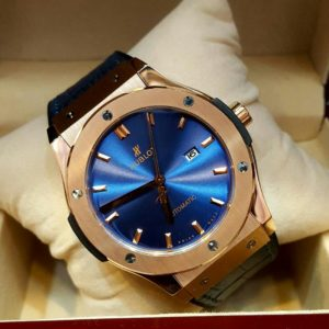 Hublot Classic Fusion Blue Sunray Dial Rose Gold Automatic Men's Watch Price In Pakistan