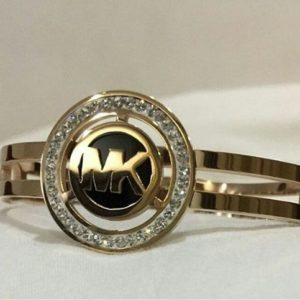 Michael Kors Bold Logo Golden Ring For Women