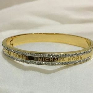 Michael Kors Golden Engraved Ring For Women