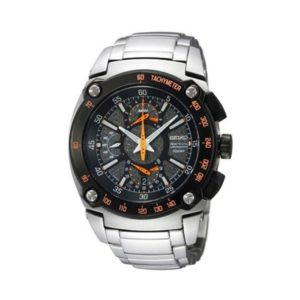 Seiko Black Dial Stainless Watch For Men -SPC039P1