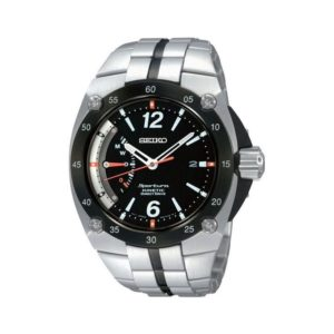 Seiko Men's Black Stainless Steel Watch Model No. SRG005P1