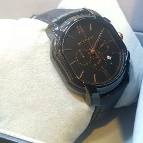 Bvlgari Chronograph Roman Figure Black Watch