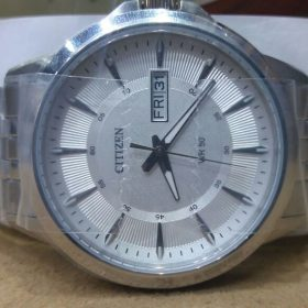 Citizen Sly Blue Dial Day Date Display Men's Watch