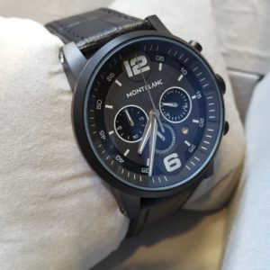 Mont Blanc Chronograph Deep Black Men's Watch