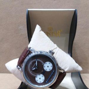 Mont Blanc Chronometer Brown Belt & Dial Men's Watch