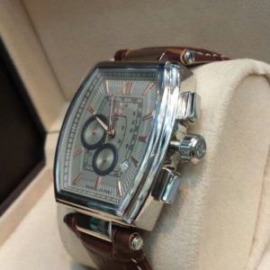 Gucci Chronometer Brown Belt Square Shaped Men's Watch