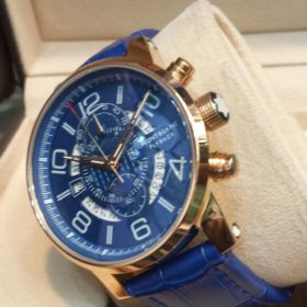 Mont Blanc Chronometer Date Day Display Blue Men's Watch