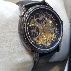 Patek Philippe Skeleton Chronograph Black Men's Watch