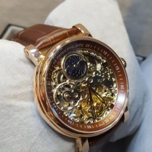 Patek Philippe Skeleton Edition Moon Phase Men's Watch