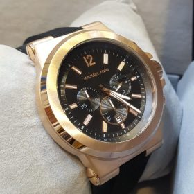 Michael Kors Chromed Golden Chronograph Men's Watch